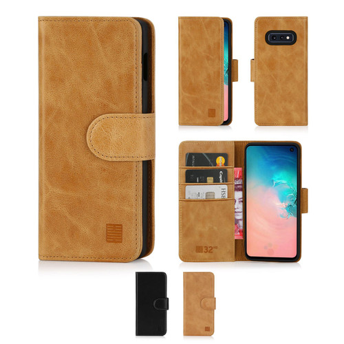 Samsung Galaxy S10e 'Premium Series' Real Leather Book Wallet Case