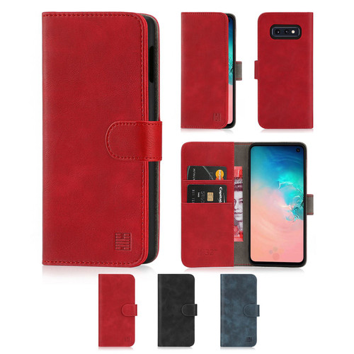 Samsung Galaxy S10e 'Essential Series' PU Leather Wallet Case Cover