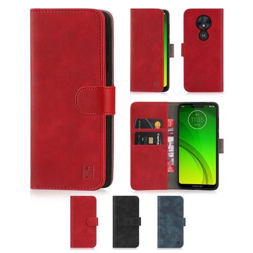 Motorola Moto G7 Power 'Essential Series' PU Leather Wallet Case Cover