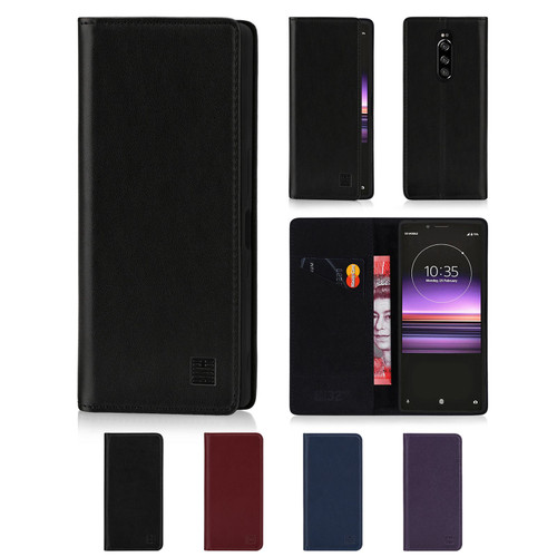 Sony Xperia 1 (2019) 'Classic Series' Real Leather Book Wallet Case