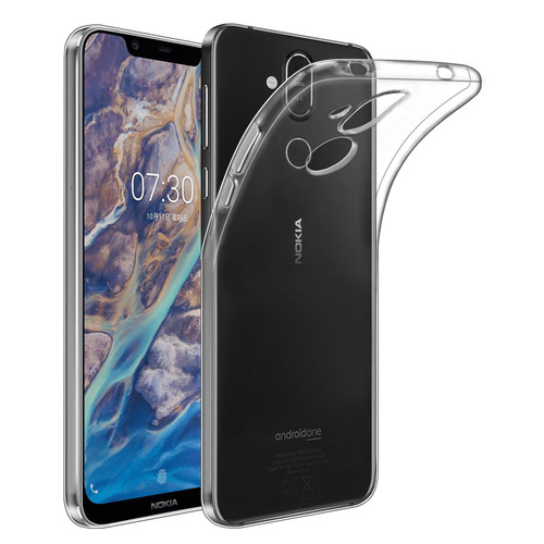 Nokia 8.1 (2019) 'Clear Gel Series' TPU Case Cover - Clear