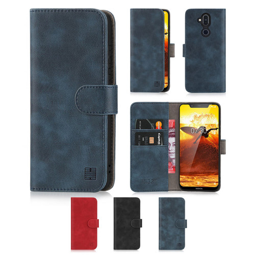 Nokia 8.1 (2019) 'Essential Series' PU Leather Wallet Case Cover