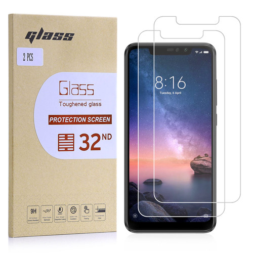 Xiaomi Redmi Note 6 Pro Tempered Glass Screen Protector - 2 Pack
