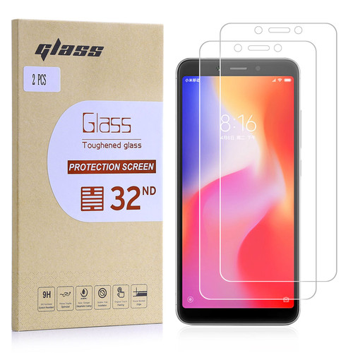 Xiaomi Redmi 6A Tempered Glass Screen Protector - 2 Pack