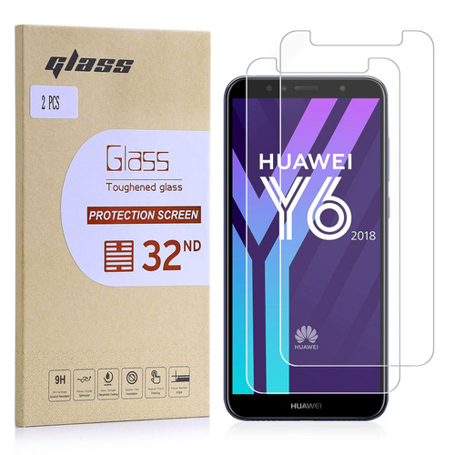 Huawei Y6 (2018) Tempered Glass Screen Protector - 2 Pack