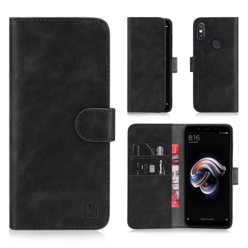 Xiaomi Redmi Note 5 'Essential Series' PU Leather Wallet Case Cover