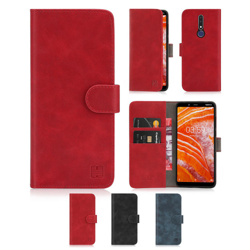 Nokia 3.1 Plus (2018) 'Essential Series' PU Leather Wallet Case Cover