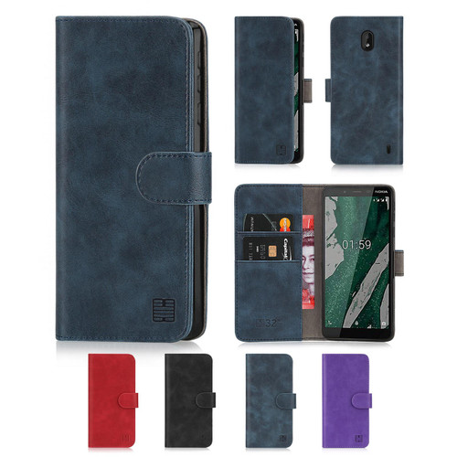 Nokia 1 Plus (2019) 'Essential Series' PU Leather Wallet Case Cover