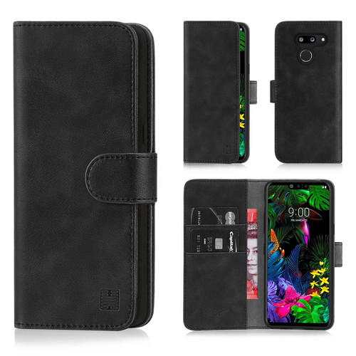 LG G8 ThinQ 'Essential Series' PU Leather Wallet Case Cover