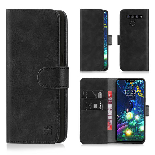 LG V50 ThinQ 'Essential Series' PU Leather Wallet Case Cover