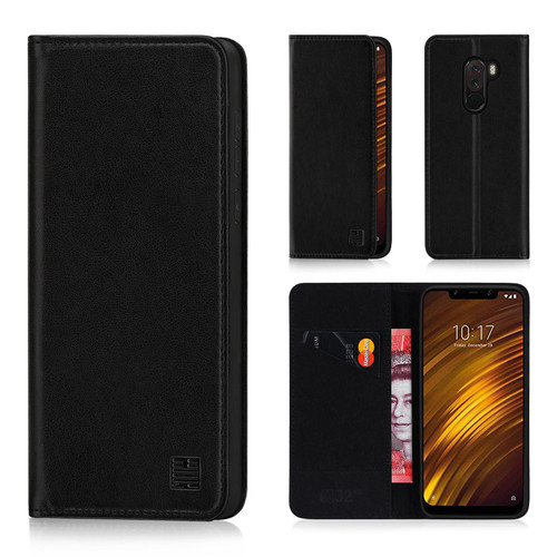 Xiaomi Pocophone F1 'Classic Series' Real Leather Book Wallet Case
