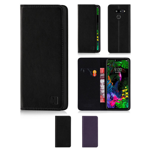 LG G8 ThinQ 'Classic Series' Real Leather Book Wallet Case