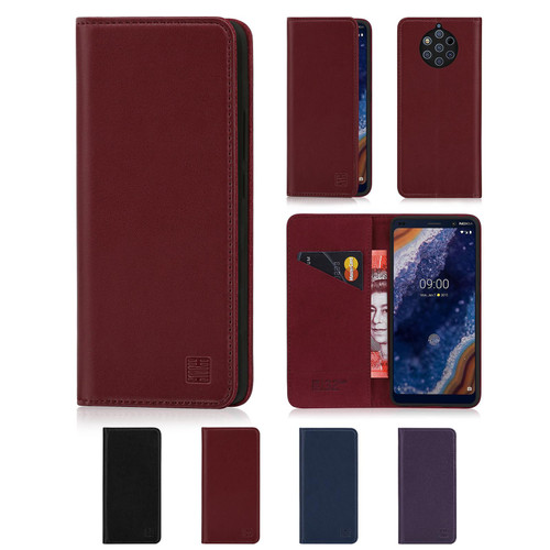 Nokia 9 PureView (2019) 'Classic Series' Real Leather Book Wallet Case