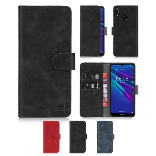 Huawei Y6 (2019) / Honor 8A 'Essential Series' PU Leather Wallet Case Cover