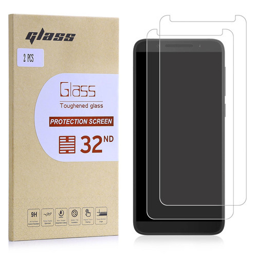 Alcatel 3 (2018) Tempered Glass Screen Protector - 2 Pack