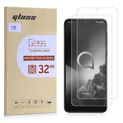 Alcatel 3 / 3L (2019) Tempered Glass Screen Protector - 2 Pack