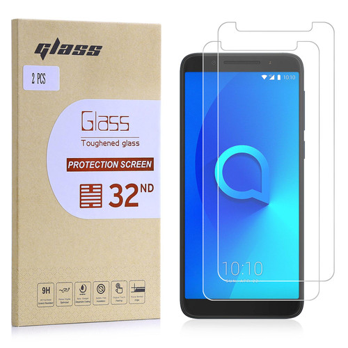 Alcatel 3V (2018) Tempered Glass Screen Protector - 2 Pack