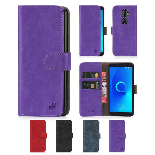 Alcatel 3V (2018) 'Essential Series' PU Leather Wallet Case Cover