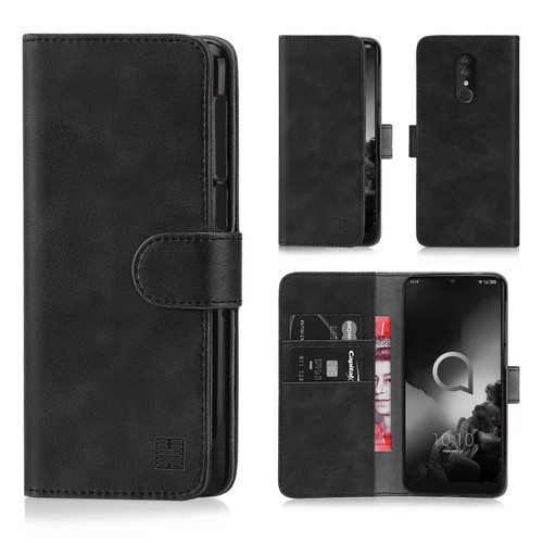 Alcatel 3 (2018) 'Essential Series' PU Leather Wallet Case Cover