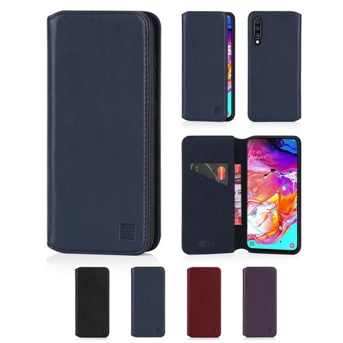 Samsung Galaxy A70 (2019) 'Classic Series 2.0' Real Leather Book Wallet Case
