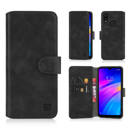 Xiaomi Redmi 7 'Essential Series 2.0' PU Leather Wallet Case Cover
