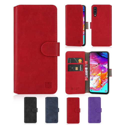Samsung Galaxy A70 (2019) 'Essential Series 2.0' PU Leather Wallet Case Cover