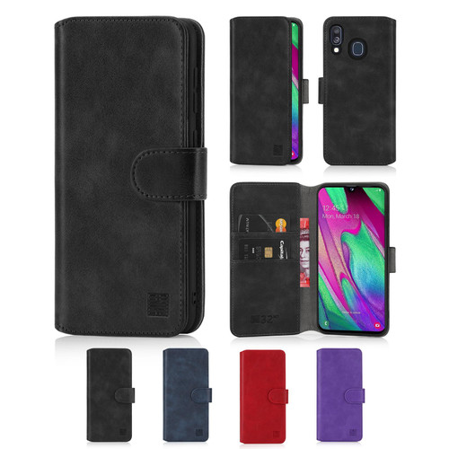 Samsung Galaxy A40 (2019) 'Essential Series 2.0' PU Leather Wallet Case Cover