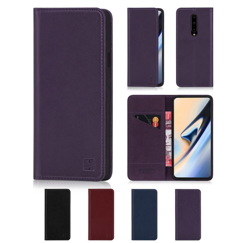 OnePlus 7 Pro 'Classic Series' Real Leather Book Wallet Case