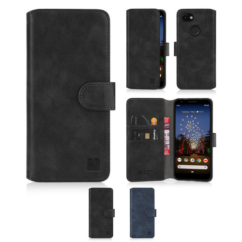 Google Pixel 3A 'Essential Series 2.0' PU Leather Wallet Case Cover