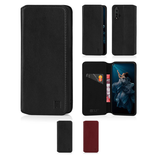 Huawei Honor 20 'Classic Series 2.0' Real Leather Book Wallet Case