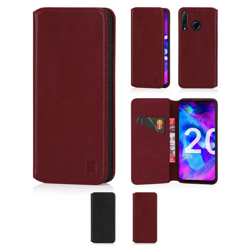 Huawei Honor 20 Lite 'Classic Series 2.0' Real Leather Book Wallet Case