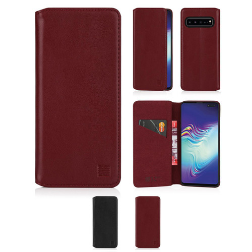 Samsung Galaxy S10 5G 'Classic Series 2.0' Real Leather Book Wallet Case