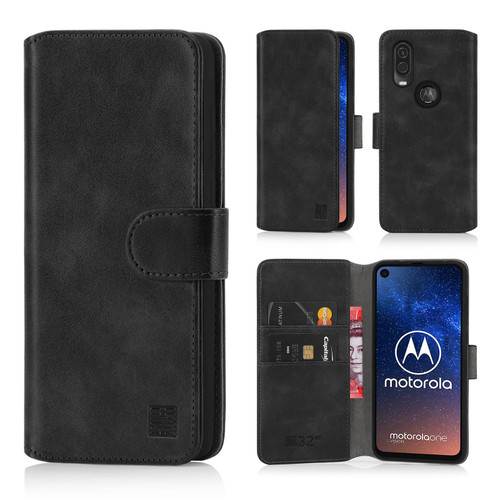 Motorola Moto One Vision 'Essential Series 2.0' PU Leather Wallet Case Cover