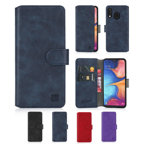 Samsung Galaxy A20e (2019) 'Essential Series 2.0' PU Leather Wallet Case Cover