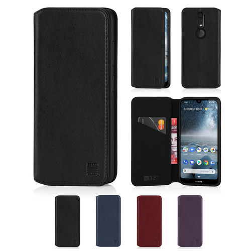 Nokia 4.2 (2019) 'Classic Series 2.0' Real Leather Book Wallet Case