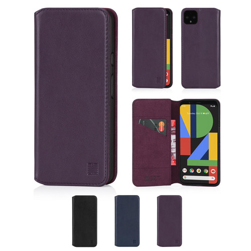 Google Pixel 4 'Classic Series 2.0' Real Leather Book Wallet Case