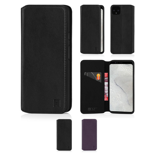 Google Pixel 4 XL 'Classic Series 2.0' Real Leather Book Wallet Case