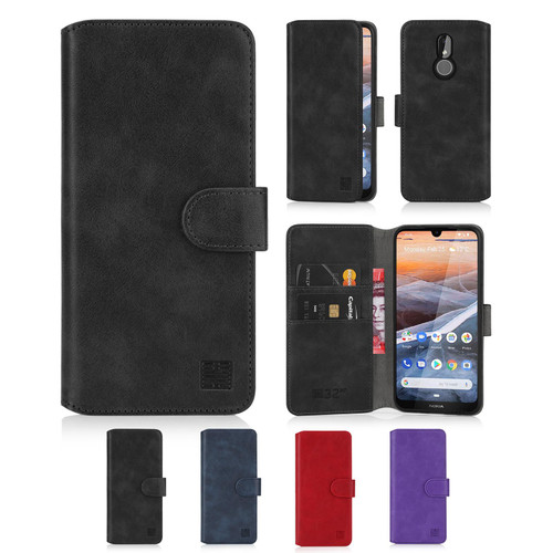 Nokia 3.2 (2019) 'Essential Series 2.0' PU Leather Wallet Case Cover