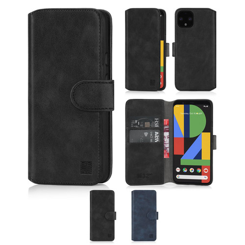Google Pixel 4 'Essential Series 2.0' PU Leather Wallet Case Cover