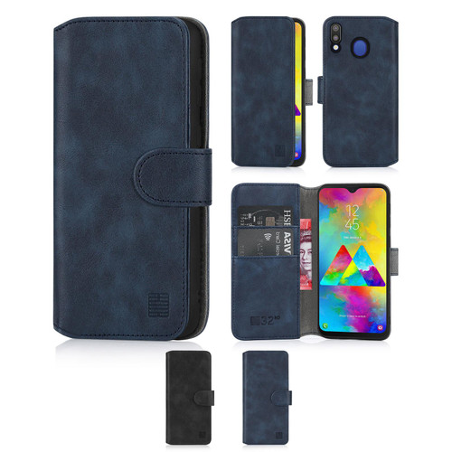 Samsung Galaxy M20 'Essential Series 2.0' PU Leather Wallet Case Cover