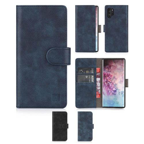 Samsung Galaxy Note 10 Plus 'Essential Series' PU Leather Wallet Case Cover