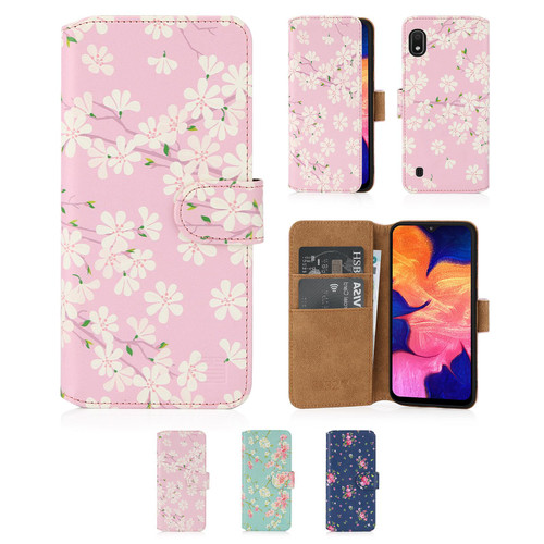 Samsung Galaxy A10 (2019) 'Floral Series 2.0' PU Leather Design Book Wallet Case