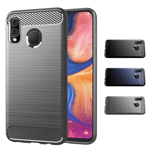 Samsung Galaxy A20e (2019) 'Carbon Series' Slim Case Cover