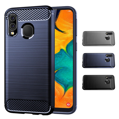 Samsung Galaxy A40 (2019) 'Carbon Series' Slim Case Cover