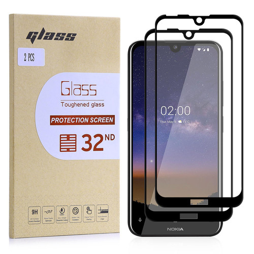 Nokia 2.2 (2019) Tempered Glass Screen Protector - 2 Pack