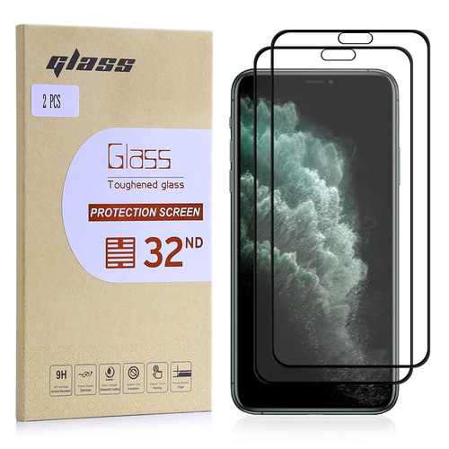 """Apple iPhone 11 Pro Max (6.5"""") Tempered Glass Screen Protector - 2 Pack"""