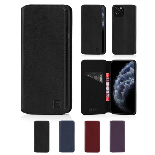 "Apple iPhone 11 Pro (5.8"") 'Classic Series 2.0' Real Leather Book Wallet Case"