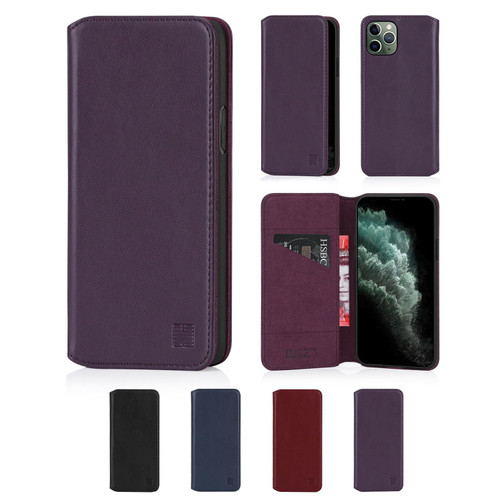 "Apple iPhone 11 Pro Max (6.5"") 'Classic Series 2.0' Real Leather Book Wallet Case"