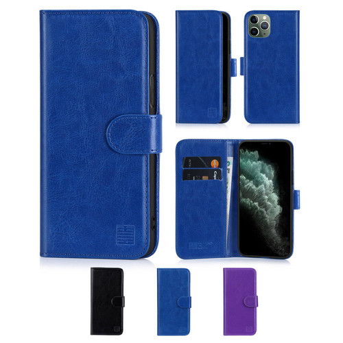"Apple iPhone 11 Pro Max (6.5"") 'Book Series' PU Leather Wallet Case Cover"