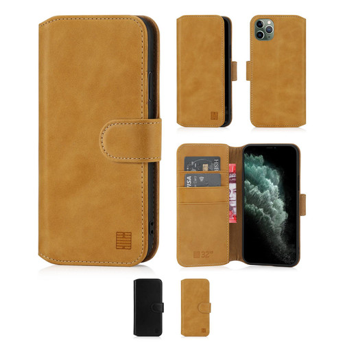 """Apple iPhone 11 Pro Max (6.5"""") 'Premium Series 2.0' Real Leather Book Wallet Case"""